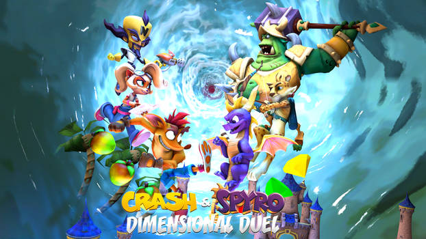 Crash and Spyro Dimensional Duel (FANMADE) Poster