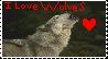 wolf stamp by AnimalDrawer