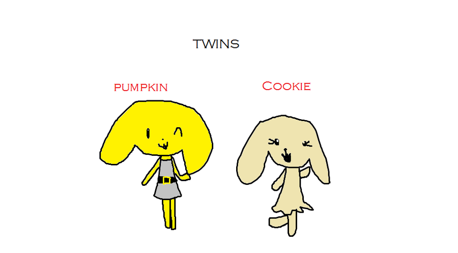 Pumpkin and Cookie by PigXChloe