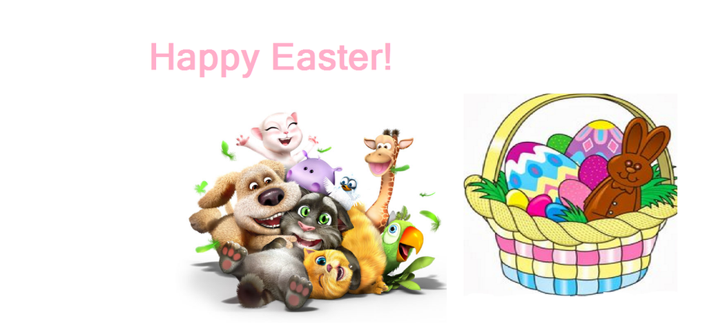 Happy Easter, Talking Friends and PigXChloe! by PigXChloe