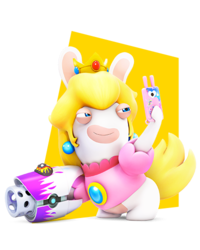 Rabbid Peach by PigXChloe