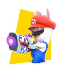 Rabbid Mario by PigXChloe