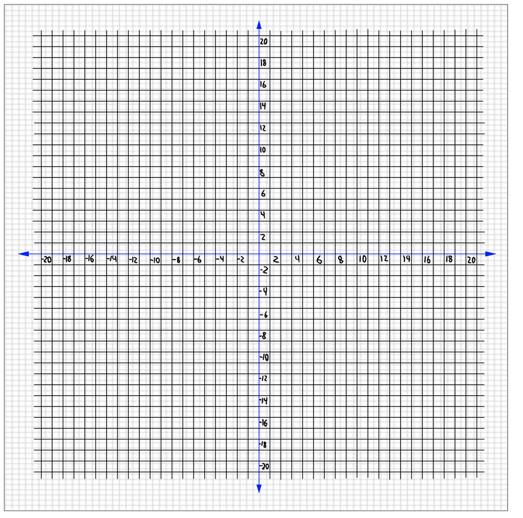 20x20 Coordinate Plane Graph Paper Jerusalem House