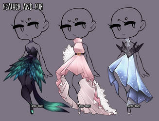 Feather and Fur Outfit adopt [CLOSE] by Miss-Trinity