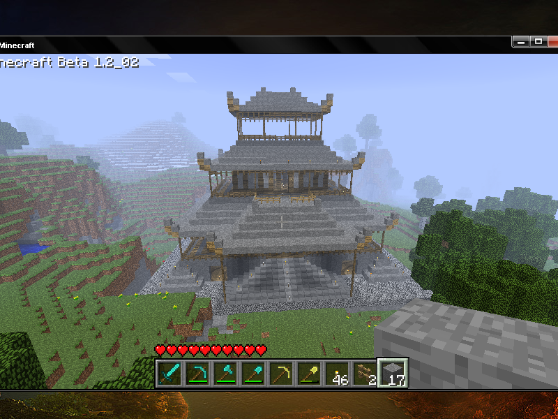 Japanese Temple In Minecraft by FunkyPencil