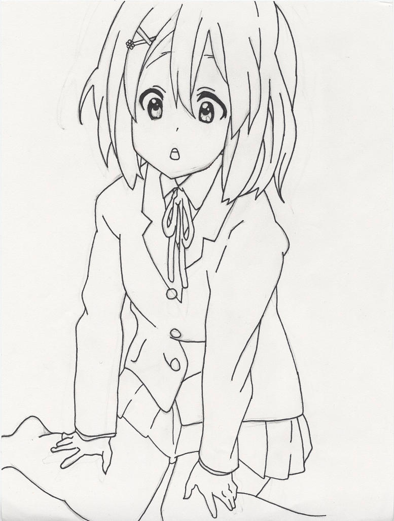 Line Art Hirasawa Yui : Yui hirasawa by poisonfrost on deviantart