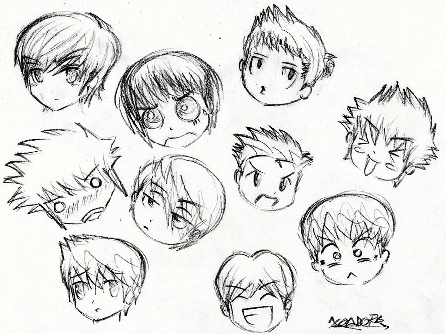 Boy Haircuts Drawing : Gallery for gt chibi hairstyles