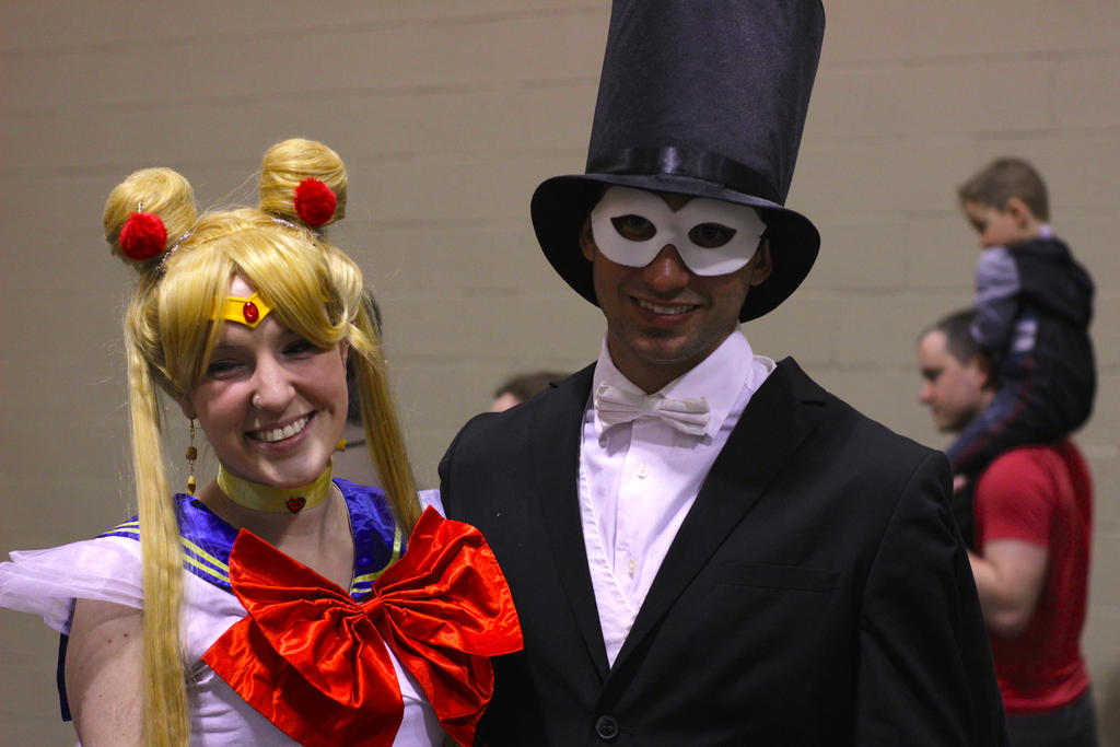 Sailor Moon and Tuxedo Mask by ReAnimatedDoll