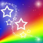 Rainbow Star Background