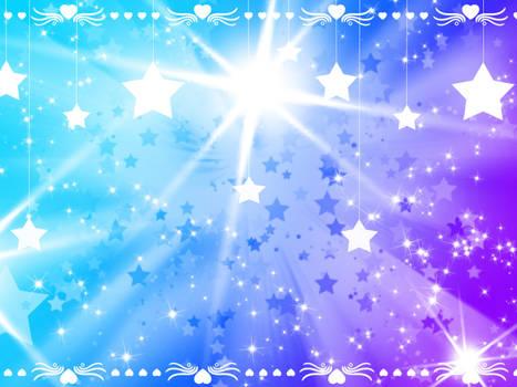 Pretty Star-Heart Background