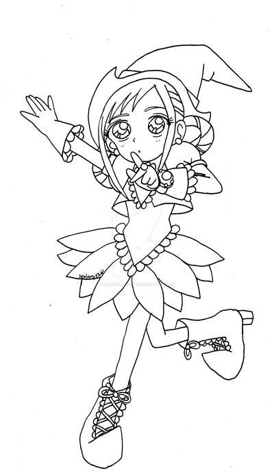 Momoko: Shhh! Line Art by YuniNaoki