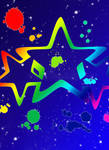 Star Splatter Background