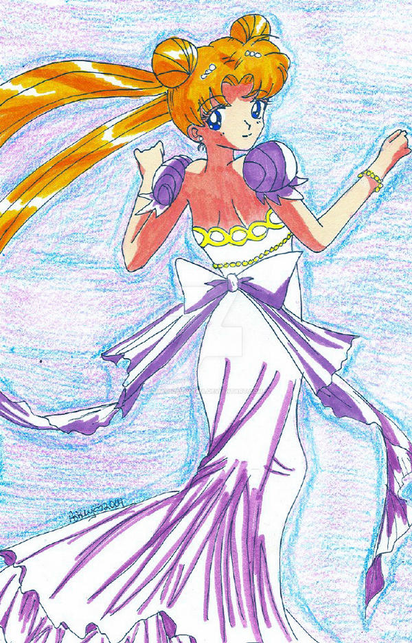 Beatiful Princess Serenity by YuniNaoki