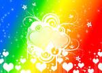 Rainbow Hearts n Sparkles Background