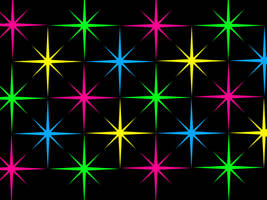 Rainbow Starburst Background: Black Version by Magical-Mama