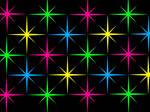 Rainbow Starburst Background: Black Version