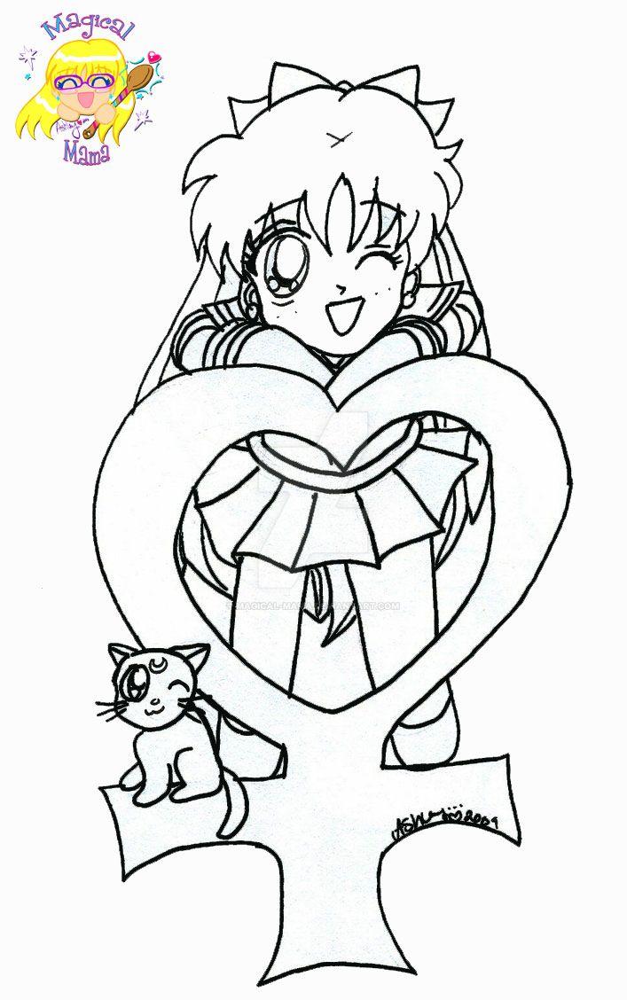Chibi Sailor Venus Coloring Page By Magical Mama On Deviantart