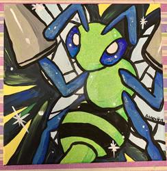 Acrylic Painting Gift: Shiny Beedrill
