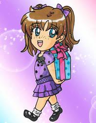 Chibi Commission-Maddie in Purple