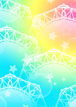 Pastel Rainbow Lace n Stars Background