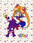 Baby Sailor Moon and Luna