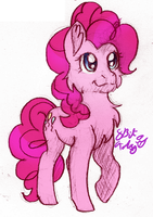 November Sketch 04- Pinkie Pie by 8BitGalaxy