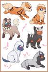 Doggo Pokemon (Sticker Sheet)