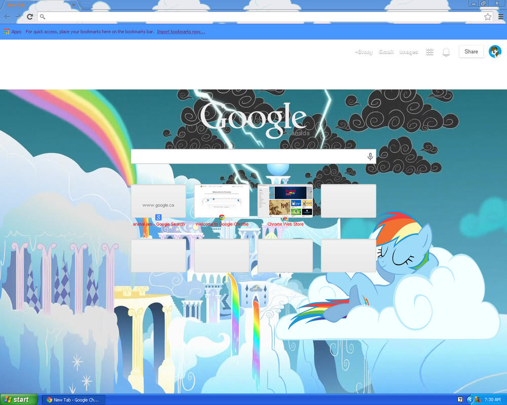 how to change the background of my google chrome