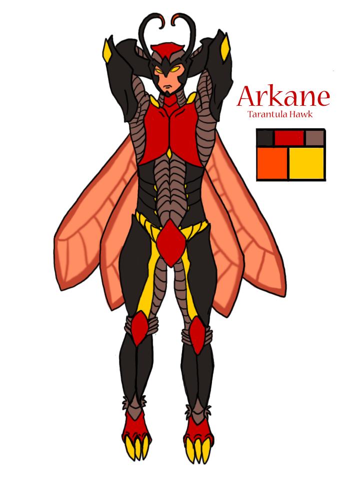 Blue's World Arkane_the_Tarantula_Wasp_by_kinonaru89