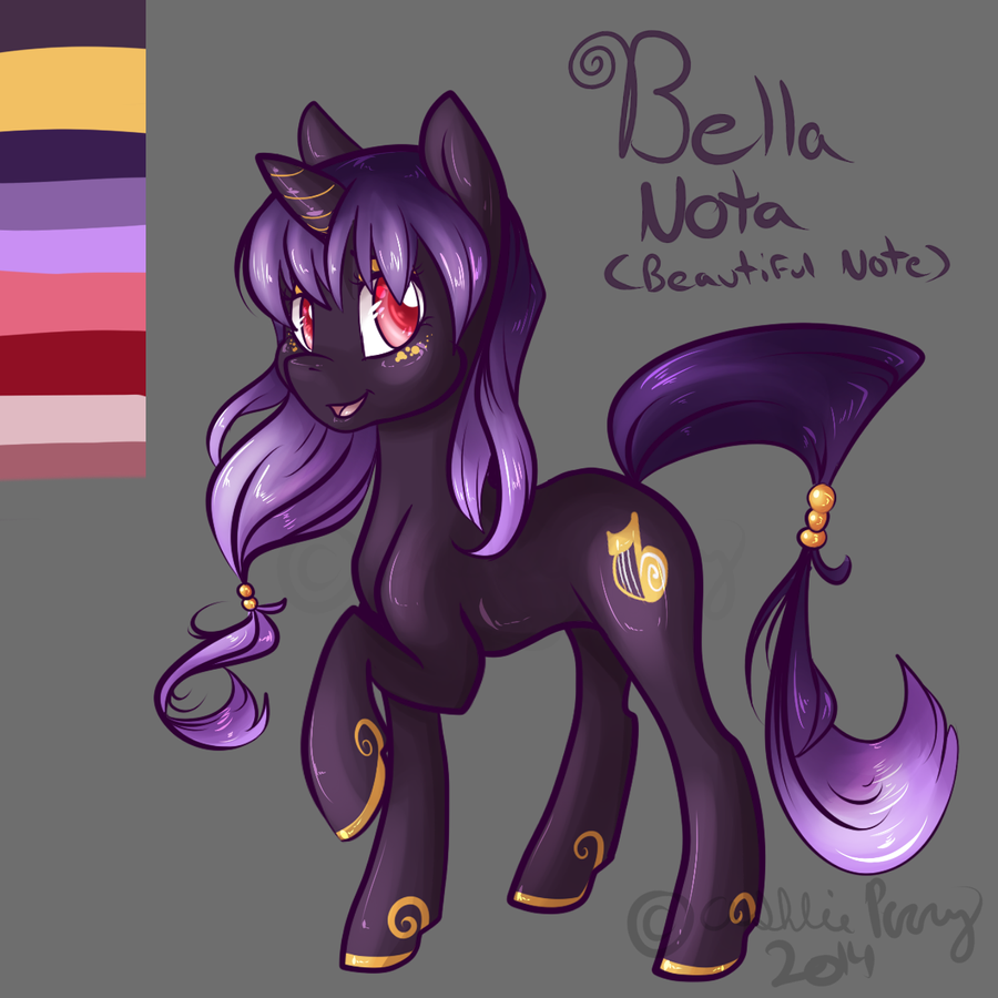 MLP OC Bella Nota by BlueKazenate