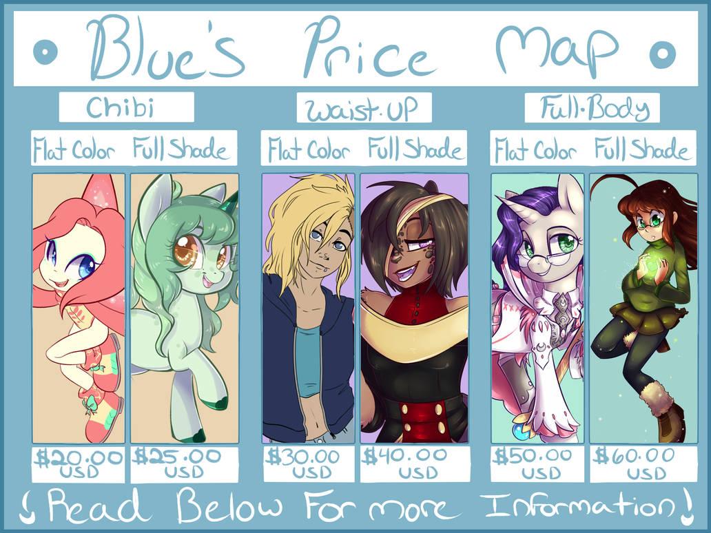 Bluebie's 2017 Price Map