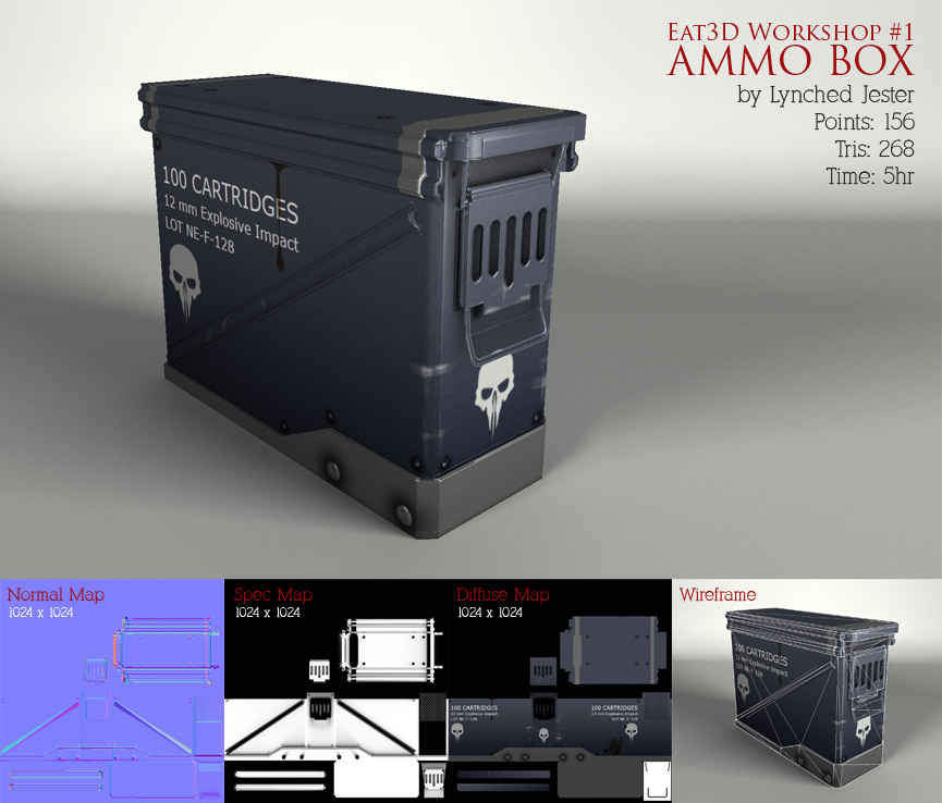 Eat 3D Workshop #1 - Ammobox by Lynched Jester