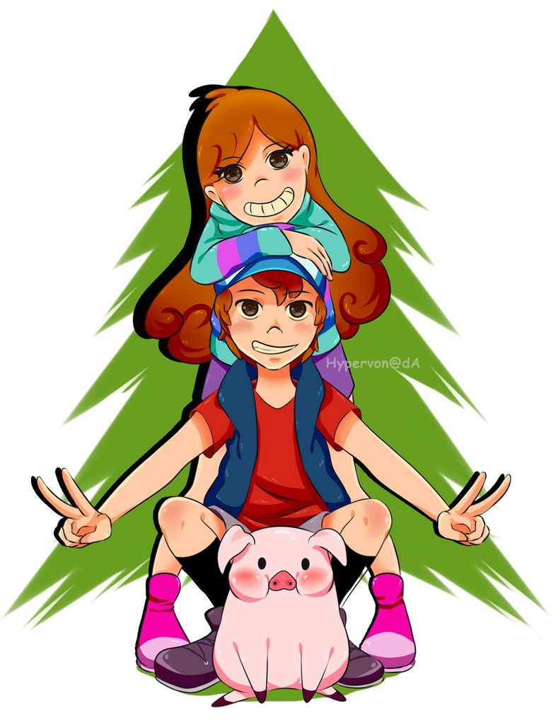 Dipper And Mabel Pines by HyperVon
