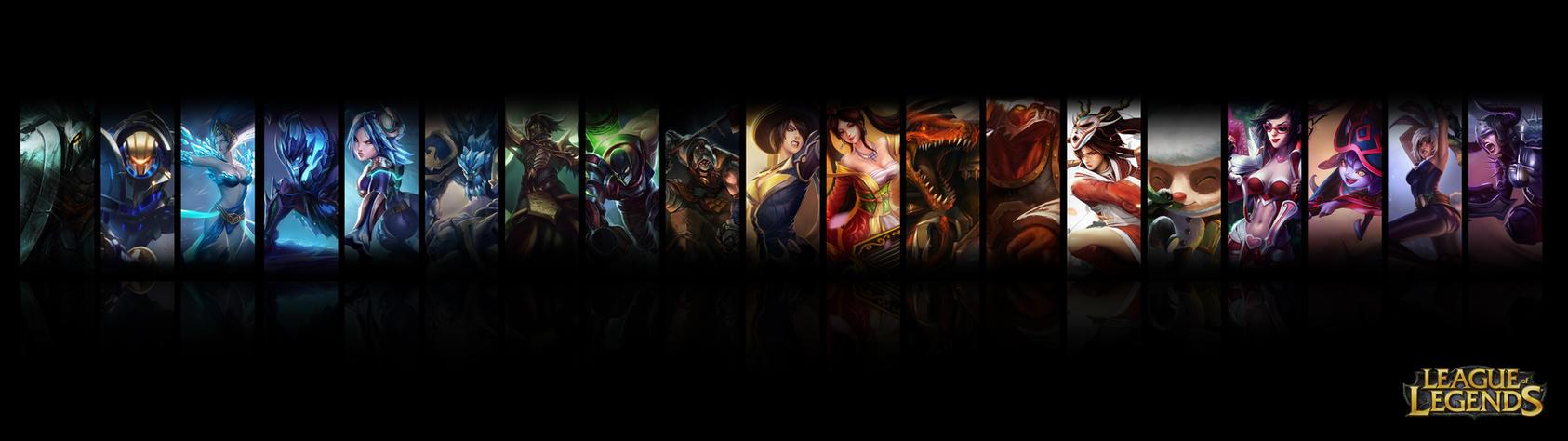 League Of Legends Dual Screen Wallpaper By Jrkdo