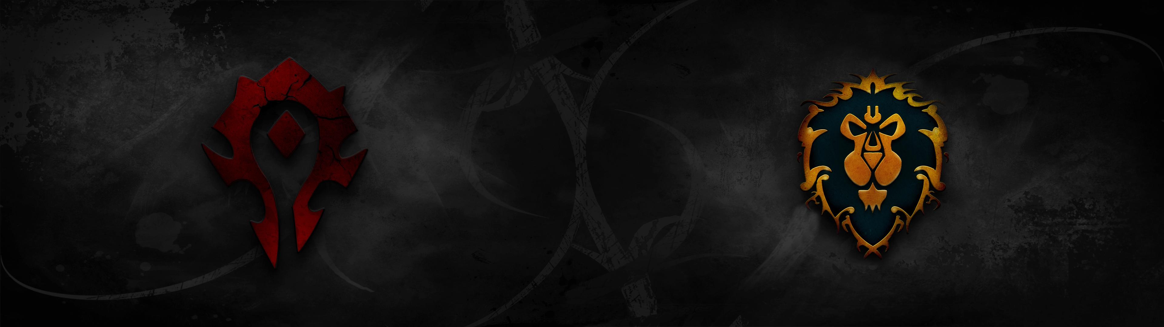 world of warcraft - horde alliance dual screen hdjrkdo on deviantart