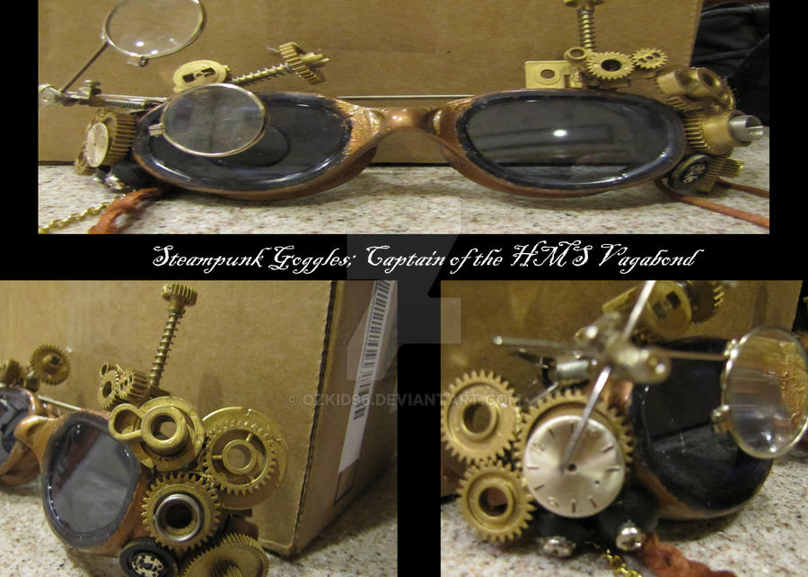 Finished Steampunk Goggles by OzKid96