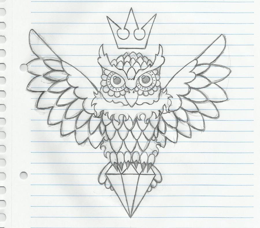 Sketch Of An Owl Ecosia