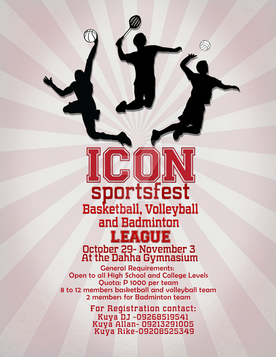 Poster design requirements - Icon Sportsfest Poster By Whatevergail Icon Sportsfest Poster By Whatevergail