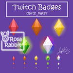 Commission: Twitch Badges (Darth_Kater)