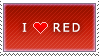 I Love Red stamp by MixyStamps