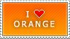 I Love Orange stamp by MixyStamps