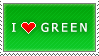 I Love Green stamp by MixyStamps