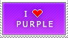 I Love Purple stamp by MixyStamps