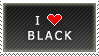 I Love Black stamp by MixyStamps