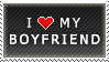 I Love My Boyfriend stamp by MixyStamps