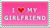 I Love My Girlfriend (pink) by MixyStamps