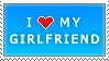I Love My Girlfriend (blue) by MixyStamps