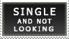 Single and NOT Looking (stamp) by MixyStamps