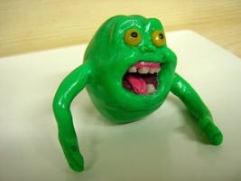 Slimer in polymer clay by valenceleclerc