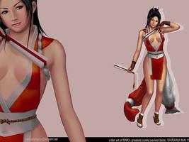 Shiranui Mai, a fanart wp by Navetsea